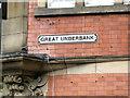SJ8990 : Great Underbank street nameplate by Robin Stott
