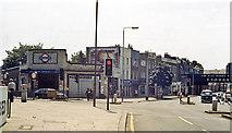 TQ3075 : Entrance to Clapham North Underground station by Ben Brooksbank