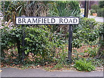 TM3876 : Bramfield Road sign by Adrian Cable