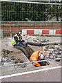 SK5638 : Modern digging  by Alan Murray-Rust
