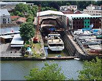 ST5772 : Albion Docks - BS3 by David Hallam-Jones