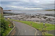 NU0052 : Mouth of River Tweed from ramparts by Chris Morgan