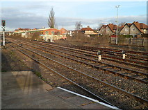SO5140 : Across the tracks at Hereford railway station by Jaggery