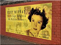 J3373 : Ruby Murray plaque, Belfast (3) by Albert Bridge