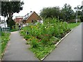 SE4132 : Garforth in Bloom at the entrance to the Lines Way by Christine Johnstone