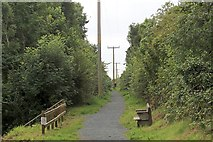 NX4355 : Route of Wigtownshire Railway, Wigtown by Bob Embleton