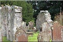 NX4355 : Remains of St Machute's Church and Vans tomb by Bob Embleton