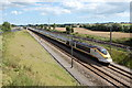 TR0937 : Eurostar train towards Ashford, near Sellindge by Julian P Guffogg