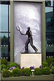 TQ2472 : Fred Perry statue at Centre Court, Wimbledon by Michael W Beales BEM