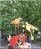 SP3378 : Exotic birdlife,Warwick Road by E Gammie