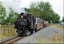 SH5738 : 'Merddin Emrys' Departs From Porthmadog by Peter Trimming