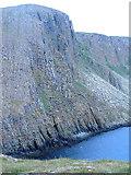 NG4198 : Cliffs of Garbh Eilean by Michael Shepherd