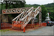 SH6441 : New Footbridge at Tan-y-Bwlch Station by Peter Trimming