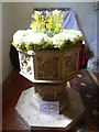 TR0149 : Font in the church of St Cosmas and St Damian, Challock by Marathon