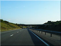 SU4773 : A34 southbound about to pass under the M4 by Colin Pyle