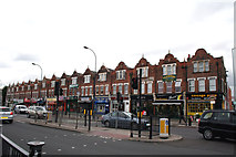 TQ3772 : Bellingham:  Shops on Bromley Road by Dr Neil Clifton