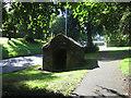 NU1812 : Stone hut on Clayport Bank, Alnwick by Graham Robson