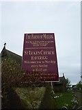 SD1578 : St Luke's Church, Haverigg, Nameboard by Alexander P Kapp
