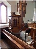 SD1578 : St Luke's Church, Haverigg, Pulpit by Alexander P Kapp
