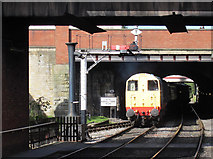 SD8010 : Diesel hauled train entering Bury station by Stephen Craven