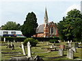 TQ1066 : Walton cemetery and Methodist church by Robin Webster