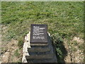 TV5895 : Plaque at Beachy Head by Paul Gillett
