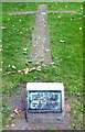 TQ3180 : Cross in the lawn at Christ Church Southwark by PAUL FARMER