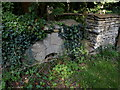 ST8378 : Mill Stone at Gatcombe Mill by Nigel Mykura