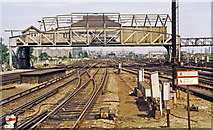 TQ2775 : Clapham Junction: 'A' Box and the lines up to London, 1984 by Ben Brooksbank