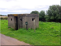SK1814 : Pill Box on the River Tame by Andrew Abbott