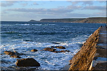 SW3526 : Sennen cove, seen from the root of the jetty by David Martin
