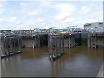 ST1972 : Sea Locks, Cardiff Bay by David Dixon