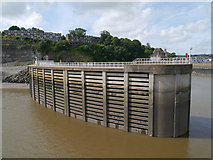 ST1972 : Breakwater, Cardiff Bay Barrage by David Dixon