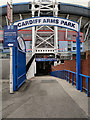 ST1876 : Entrance to Cardiff Arms Park by David Dixon