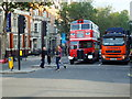 TQ2878 : War Time Tour Bus in Buckingham Palace Road, London by PAUL FARMER