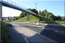 SY6778 : Newstead Road  footbridge by John Stephen