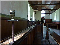 TQ9963 : Candle holders in the Church of St. Mary, Luddenham by pam fray