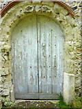 TQ9963 : The west door of the Church of St. Mary, Luddenham by pam fray