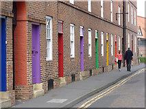 SK7954 : Rainbow doorways by Alan Murray-Rust
