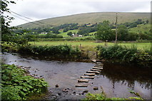 SD7186 : Stepping stones over the River Dee by Bill Boaden