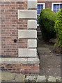 SK8053 : Bench mark, County Council offices, Balderton Gate  by Alan Murray-Rust