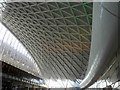 TQ3083 : The 'new' steel roof at London King's Cross railway station by Steve  Fareham