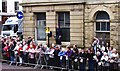 SD5429 : Preston Guild Trades Procession 2012 (001) - awaiting the arrival of the procession in Earl Street, Preston by P L Chadwick