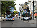 SJ8498 : Buses at Piccadilly by David Dixon