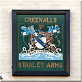 SJ6475 : Stanley Arms (inn sign) by David Dixon