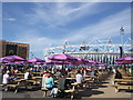 TQ3783 : Picnic area near Olympic stadium by Paul Gillett