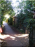 TM3863 : Footpath junction on the footpath to Mill Road by Adrian Cable