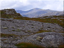 NH2630 : Rocks on ridge north of Carn Loch na Gobhlaig above Glen Cannich, Inverness by ian shiell