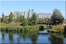 TQ3784 : River Lea, Olympic Park by Oast House Archive