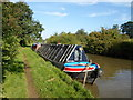 SP5275 : Working Narrow Boat Hadar moored near Clifton upon Dunsmore by Keith Lodge
